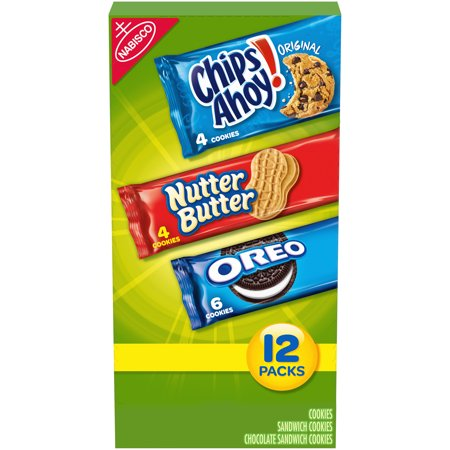 0044000047382 - NABISCO COOKIE VARIETY PACKS (CHIPS AHOY!/NUTTER BUTTER/OREO), 21.2 OZ