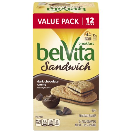 0044000058616 - BELVITA BREAKFAST BISCUITS DARK CHOCOLATE CREME