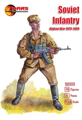 4544032751340 - 1/32 SOVIET UNION INFANTRY AFGHAN WAR 6 POSES 18 FIGURES PLASTIC MODEL FIGURE COLLECTION SOFT PLA GROUND FORCE UNIT SOLDIER ARMY MARS