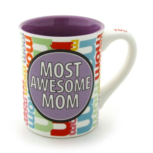 0045544557245 - ENESCO OUR NAME IS MUD BY LORRIE VEASEY 16-OUNCE MOST AWESOME MOM MUG, 4.5-INCH