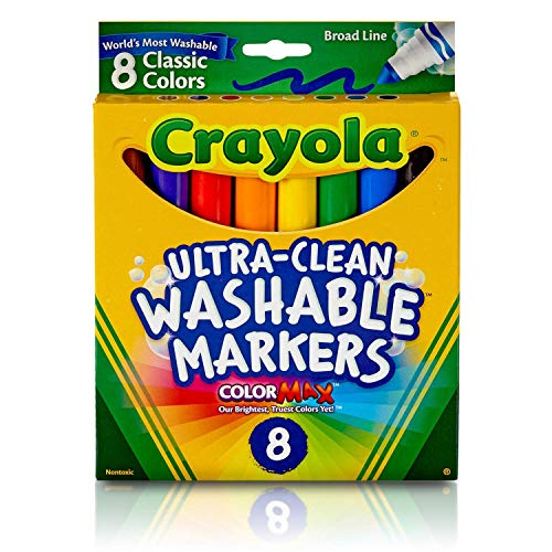 0046946296619 - CRAYOLA ULTRA-CLEAN WASHABLE MARKERS, BROAD LINE, 8 COUNT