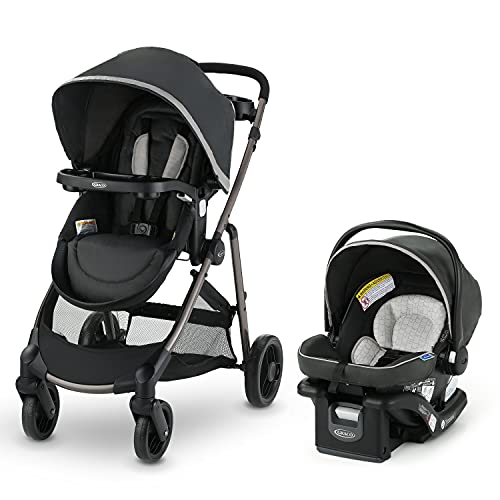 0047406182459 - GRACO MODES ELEMENT TRAVEL SYSTEM | INCLUDES BABY STROLLER WITH REVERSIBLE SEAT, EXTRA STORAGE, CHILD TRAY AND SNUGRIDE 35 LITE LX INFANT CAR SEAT, REDMOND