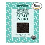 0047445301088 - SOUND SEA VEGETABLES ORGANIC TOASTED SUSHI NORI 7 SHEETS