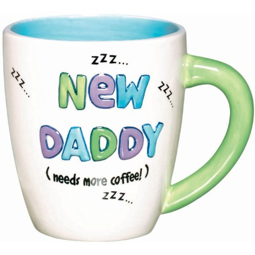 0048419756279 - AMSCAN DELIGHTFUL NEW DADDY MUG BABY SHOWER PARTY NOVELTY FAVORS, 16 OZ, WHITE/BLUE