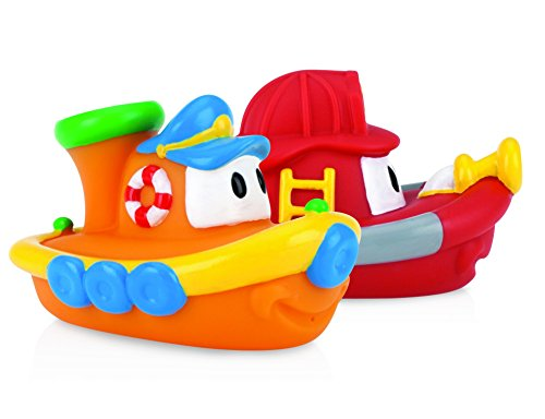 0048526061990 - BABY TOYS - NUBY - BOAT SHAPED BATH FLOATIES (2-PACK) GAMES NEW 6199