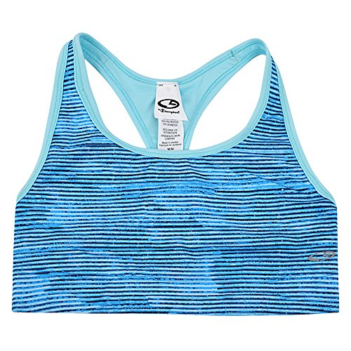 4861273179048 - CHAMPION WOMEN'S REVERSIBLE ACTION SPORTS BRA (XS, BABY BLUE)