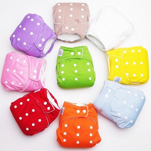 4874588548188 - PCS REUSABLE BABY INFANT NAPPY CLOTH WASHABLE DIAPERS SOFT COVERS FREE SIZE ADJUSTABLE FRALDAS WINTER SUMMER VERSION