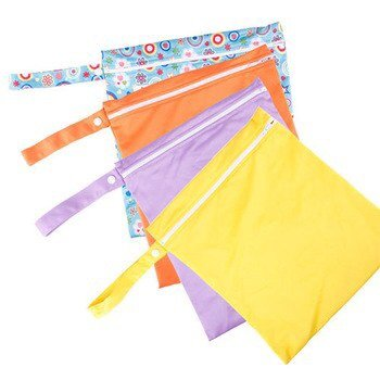 4874588548249 - BABY TRAVEL NAPPY REUSABLE WASHABLE WET DRY CLOTH ZIPPER WATERPROOF DIAPER BAG FFY #46667