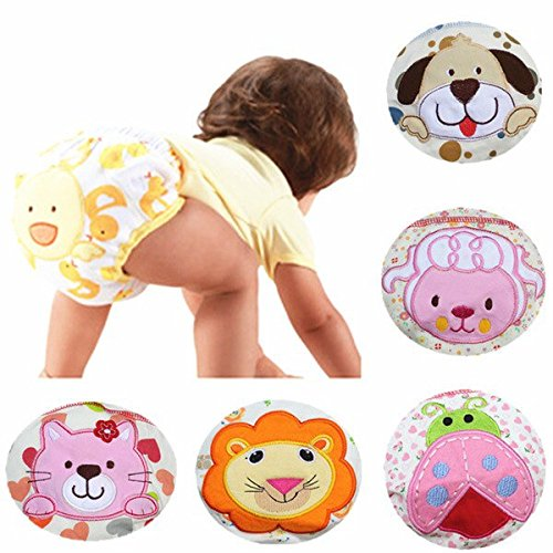 4874588548331 - 1 PIECE COTTON BABY WASHABLE CLOTH DIAPER REUSABLE NAPPIES / LABS TRAINING PANTS BRIEFS INFANT BOY GIRL UNDERWEAR