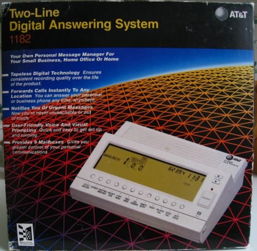 0048898231717 - AT&T BOGEN 1182 WHITE TWO-LINE DIGITAL ANSWERING SYSTEM WITH 6 PERSONAL MAILBOXES AND 3 ANNOUNCEMENT ONLY MAILBOXES. FORWARDS CALLS INSTANTLY TO ANY LOCATION. NOTIFIIES YOU OF URGENT MESSAGES. THIS ATT 1182 MODEL IS THE UPGRADED EQUIVALENT OF THE BOGEN F