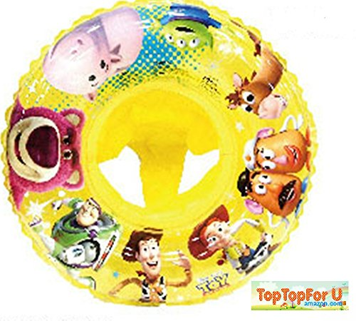 4891122805309 - LICENSED DISNEY TOY STORY CHARACTERS TRANSPARENT YELLOW BABY SWIMMING FLOAT SEAT RING