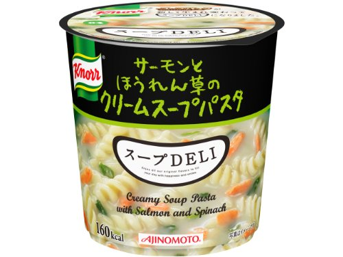 4901001179404 - AJINOMOTO KNORR SOUP DELI SALMON AND SPINACH CREAM SOUP PASTA 40.3G ~ 6 PIECES