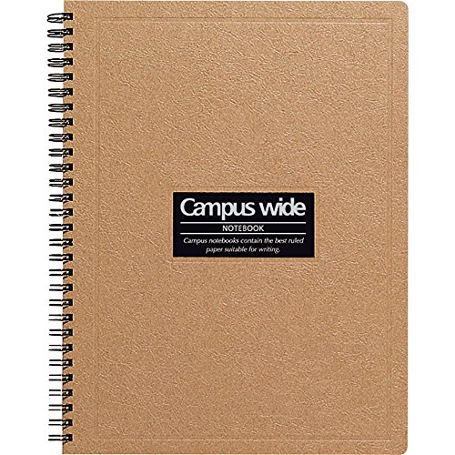 4901480073590 - KOKUYO CAMPUS WIDE TWIN RING NOTEBOOK - SPECIAL B5 (7.5 X 10) - 30 LINES - 70 SHEETS - KHAKI BROWN