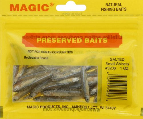 0049363052066 - MAGIC PRODUCTS PRESERVED SALTED SHINERS SMALL 5206 (1 1/2-2; 30 CT.)