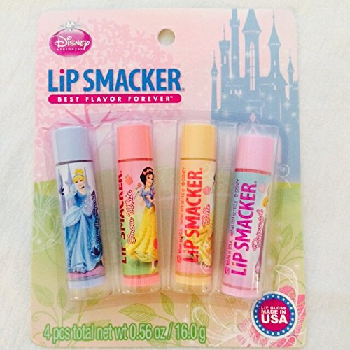 0050051495768 - LIP SMACKER BEST FLAVOR FOREVER DISNEY PRETTY AS A PRINCESS LIP COLLECTION ~ 4 PCS