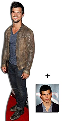 5052310841779 - FAN PACK - TAYLOR LAUTNER LIFESIZE CARDBOARD CUTOUT / STANDEE / STANDUP - INCLUDES 8X10 (20X25CM) PHOTO