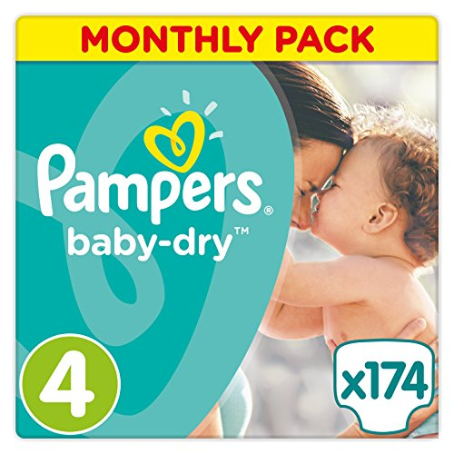 5053973967257 - BABY-DRY NAPPIES SIZE 4 (7-18 KG) - ECONOMIC PACK OF 174 NAPPIES