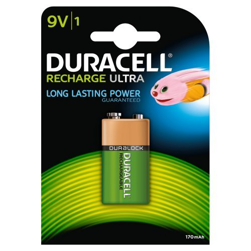 5054484635611 - DURACELL 9V NIMH RECHRGEABLE BATTERY