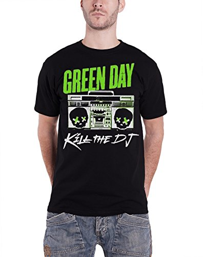 5055890082778 - GREEN DAY BAND LOGO KILL THE DJ OFFICIAL MENS NEW BLACK T SHIRT ALL SIZES