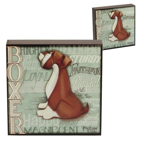5060083428837 - WALL ART - MY PEDIGREE PALS DOGS PICTURES (BOXER)