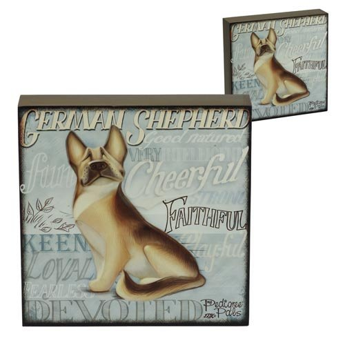 5060083428868 - WALL ART - MY PEDIGREE PALS DOGS PICTURES (GERMAN SHEPHERD)