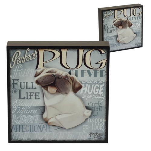 5060083428882 - WALL ART - MY PEDIGREE PALS DOGS PICTURES (PUG)