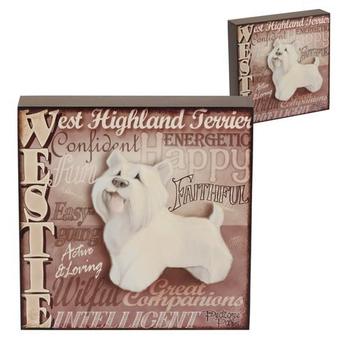 5060083428905 - WALL ART - MY PEDIGREE PALS DOGS PICTURES (WESTIE)