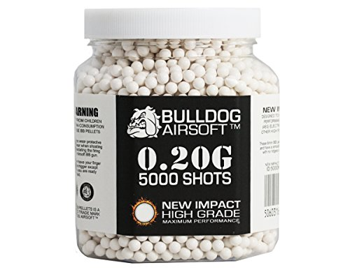 5060402136450 - BULLDOG 0.20G 5000 IMPACT HIGH GRADE WHITE BB PELLETS BB BULLETS