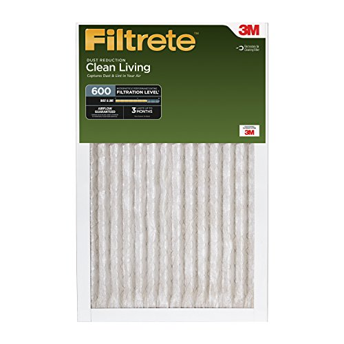 0051111556511 - FILTRETE CLEAN LIVING DUST REDUCTION, MPR 600, 16-INCH X 25-INCH X 1-INCH, 6-PAC