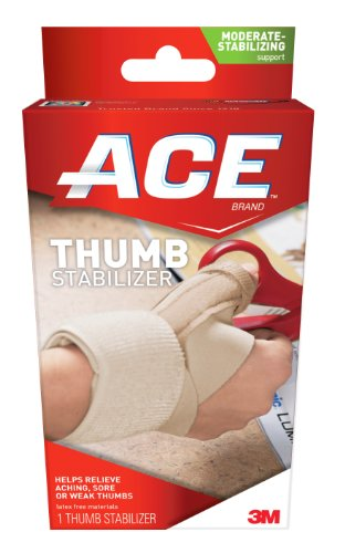0051131198371 - ACE LATEX FREE THUMB STABILIZER RELIEVES ACHING SORE OR WEAK THUMBS LARGE AND XL 1 EA