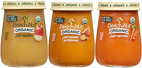 0052200200025 - BEECH-NUT ORGANIC STAGE 1 BABY FOOD VARIETY PACK, 4.25 OUNCE (PACK OF 10)
