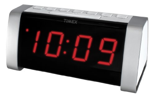 5351920704789 - TIMEX T235WY AM/FM DUAL ALARM CLOCK RADIO WITH JUMBO DISPLAY AND LINE-IN JACK (WHITE)