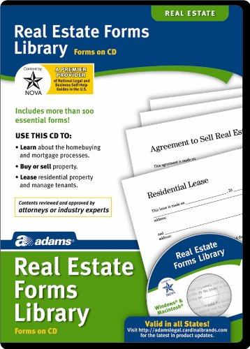 0053926602476 - ADAMS REAL ESTATE FORMS LIBRARY ON CD, WHITE (SS502)