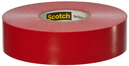0054007108108 - SCOTCH 3/4-IN X 66-FT RED GENERAL-DUTY ELECTRICAL TAPE