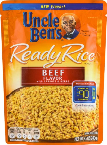 0054800420216 - UNCLE BEN'S READY RICE POUCH BEEF FLAVOR WITH CARROTS AND HERBS