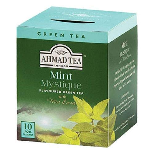 0054881003193 - CHÁ VERDE MINT MYSTIQUE AHMAD TEA LONDON CAIXA 20G 10 UNIDADES