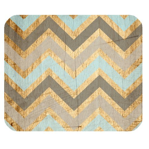 0570970329147 - VINTAGE WOOD CHEVRON UNIQUE CUSTOM MOUSE PAD MOUSEPAD