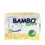 5710811024939 - BAMBO NATURE | BAMBO NATURE® ULTRA ABSORBENT CHLORINE-FREE ECO-FRIENDLY BABY DIAPERS - SIZE 2 - MINI - FITS 6.6 TO 13 LBS - 30 COUNT (PACK OF 1)