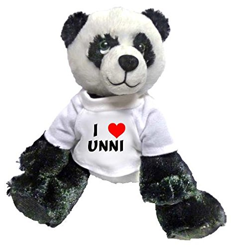 5993000107075 - PLUSH PANDA TOY WITH I LOVE UNNI T-SHIRT (FIRST NAME/SURNAME/NICKNAME)