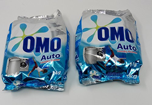 6001085126559 - OMO AUTO WASHING POWDER DETERGENT 2 PACKS EACH 1KG (TOTAL 4.4LBS)
