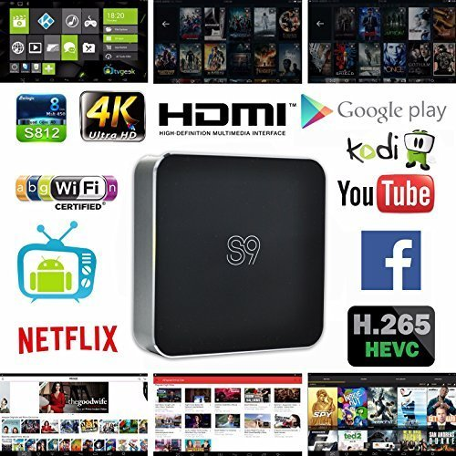 0600346440944 - VSHARE S9 ANDROID TV BOX QUAD CORE XBMC FULLY LOADED KODIOS 3D BLU-RAY ULTRA 4K STREAMING MEDIA PLAYER