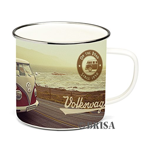 0600514902281 - ENAMEL COFFEE MUG-BEACH LIFE