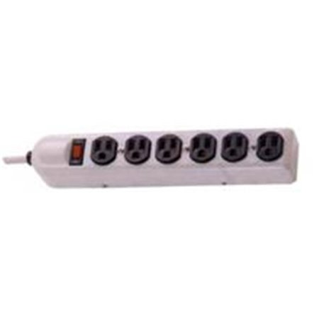 0601986890601 - 6 OUTLET METAL STRIP SURGE PROTECTOR