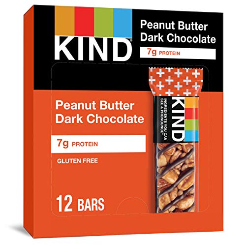 0602652273735 - KIND BARS, PEANUT BUTTER DARK CHOCOLATE, 8G PROTEIN, GLUTEN FREE BARS, 1.4 OUNCE,24 COUNT