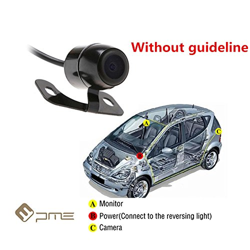 6037581108881 - PME 170° WIDE ANGLE CAR REAR VIEW BACKUP CAMERA MINI BUTTERFLY STYLE WATERPROOF FOR CAR MONITOR (WITHOUT GUIDE LINE VERSION)