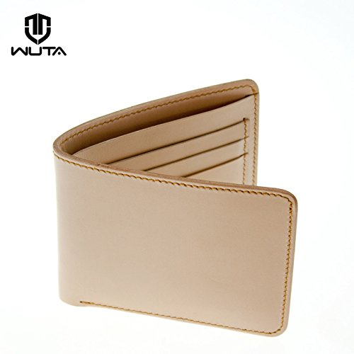 4a4520976eea WUTA LEATHER SHORT WALLET WITH 6 CARD SLOTS PATTERN DIY LEATHER ...