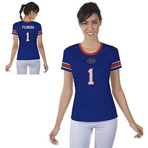 0604007219252 - FLORIDA GATORS UF WOMENS SHORT SLEEVE SHIRT JERSEY DESIGN (MEDIUM)