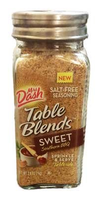 0605021984447 - MRS. DASH TABLE BLENDS, SWEET SOUTHERN BBQ, 2.6 OUNCE