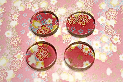 0606250672037 - 1 CIRCLE GLASS TILES 5MM THICK PERFECT FOR PENDANTS