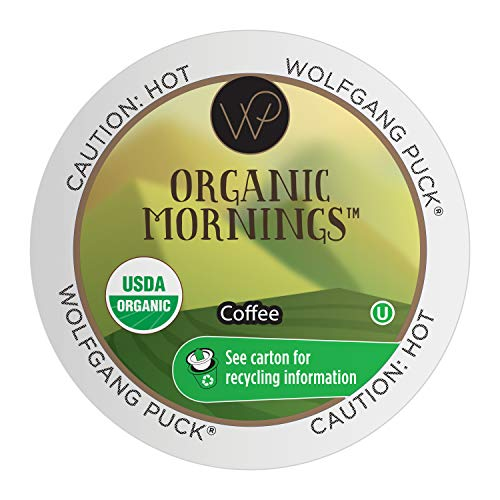 0060731002124 - WOLFGANG PUCK ORGANIC MORNINGS, FAIR TRADE ORGANIC, MEDIUM ROAST COFFEE, KEURIG K-CUP BREWER COMPATIBLE PODS, 24 COUNT